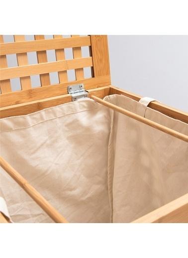 Chakra Bambu Çamaşır Sepeti Kahve